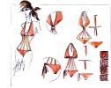 disegno tecnico bikini handmade
